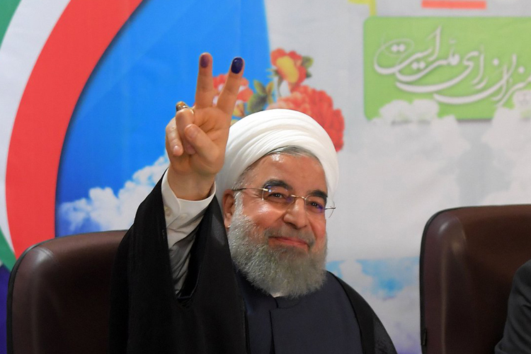 Rouhani on pace to win re-election in Iran